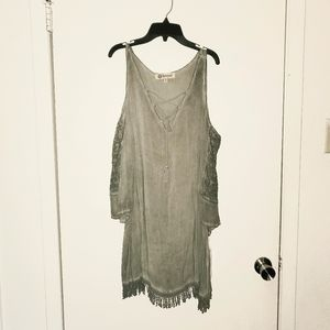 Democracy Cold Shoulder Dress/Tunic 1X